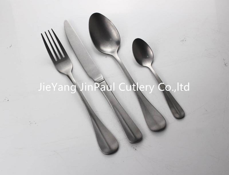 cutlery with antique finish